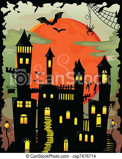 haunted castle - csp7476714
