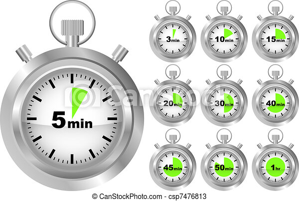 Vecteurs de chronom tre minuteur collection de - Minuteur 10 minutes ...