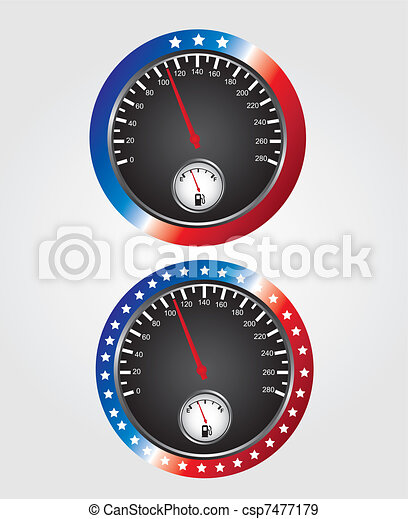 Speedometer usa - csp7477179