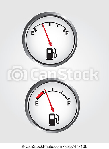 Dashboard gas gauge - csp7477186