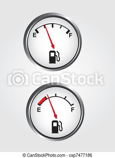Dashboard gas gauge - csp7477186