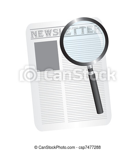 magnifying glass and newspaper - csp7477288