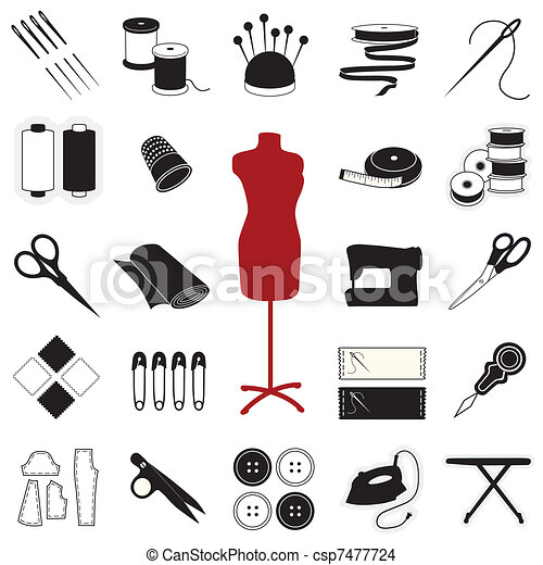Sewing & Tailoring Icons - csp7477724