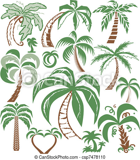Palm Tree Collection - csp7478110