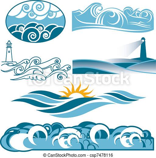 Rolling Blue Seas - csp7478116