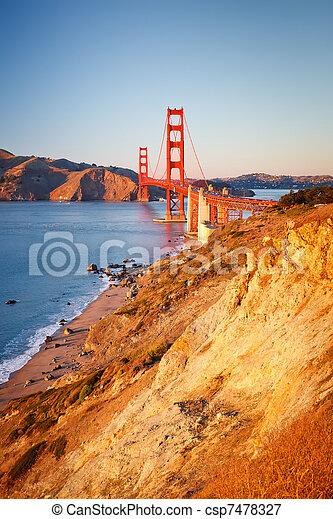 Golden Gate bridge - csp7478327