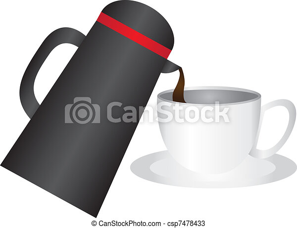 coffee cup and thermos - csp7478433