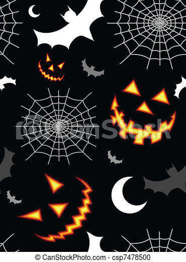Halloween terror background pattern - csp7478500
