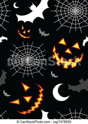 Halloween terror background pattern - csp7478500