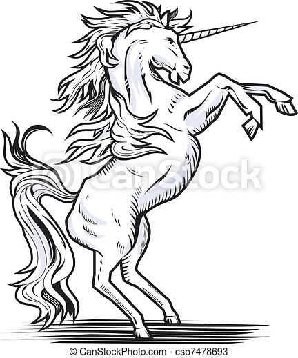 Rearing Unicorn - csp7478693