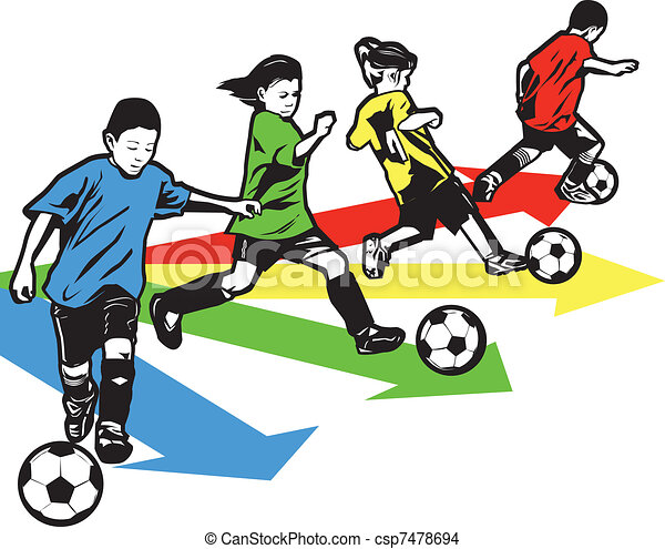 Youth Soccer Drill - csp7478694