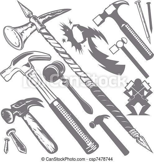 Hammer Collection - csp7478744