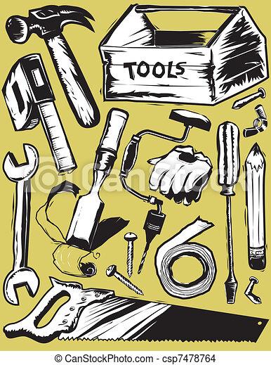 Rough Tools - csp7478764