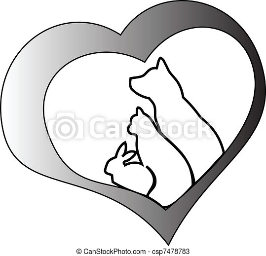 Pets and heart - csp7478783
