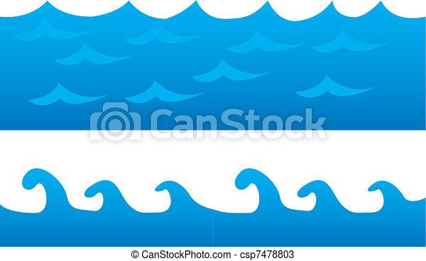 sea cartoon - csp7478803