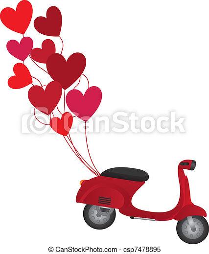 red motorbike - csp7478895