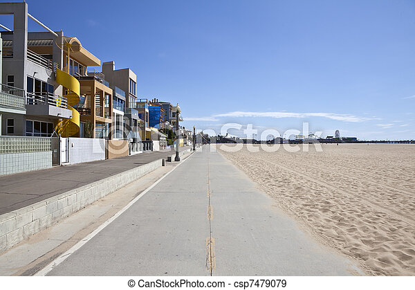 Santa Monica Beach Bike Path - csp7479079