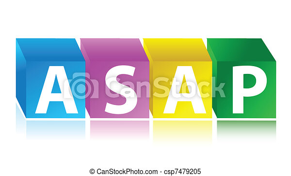 asap color cubes urgency concept - csp7479205