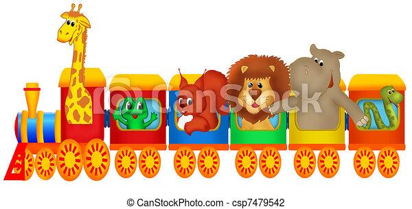 Train with animals - csp7479542