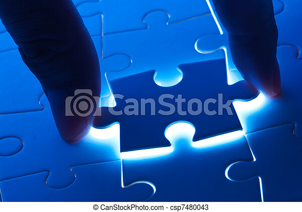 Pick puzzle piece with mystery light - csp7480043