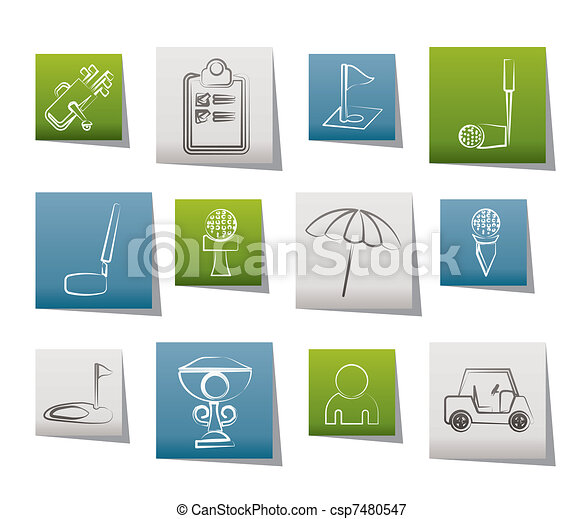 golf and sport icons - csp7480547
