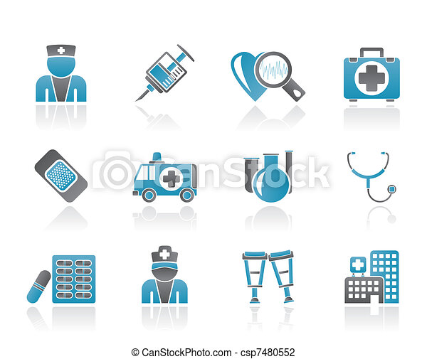 Medicine and healthcare icons - csp7480552