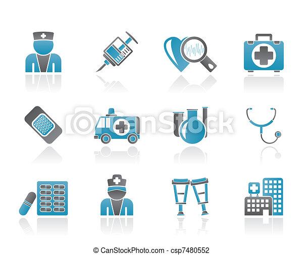 Medicine and healthcare icons - csp7480552