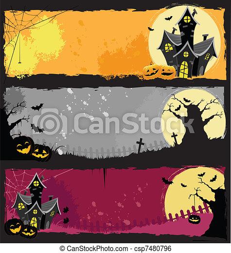 Halloween Banners - csp7480796