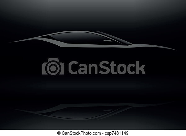 Sports Vehicle Silhouette - csp7481149