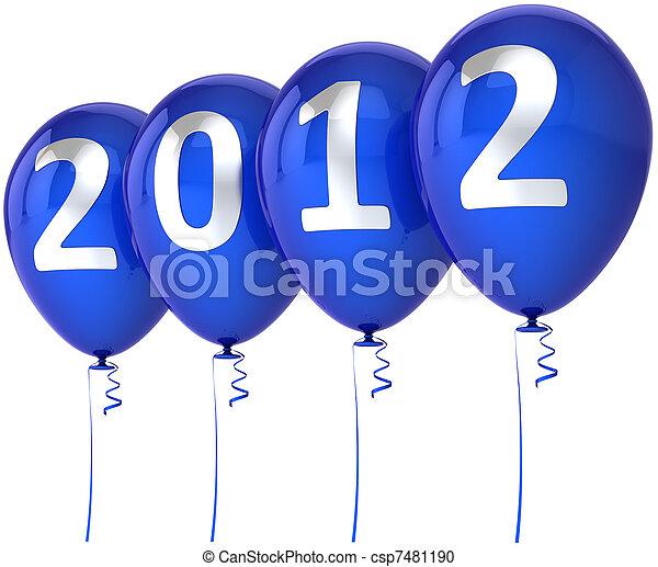 Merry Christmas Happy New Year 2012 - csp7481190