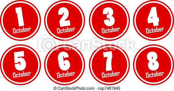 october dates - csp7481945