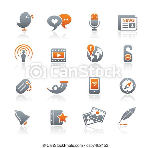 Blog & New Media / Graphite Series  - csp7482452