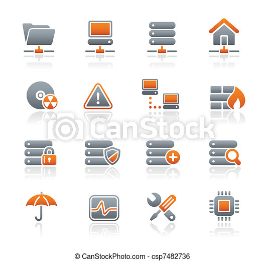 Network, Server & Hosting Icons - csp7482736