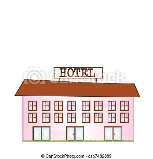 cartoon hotel - csp7482889