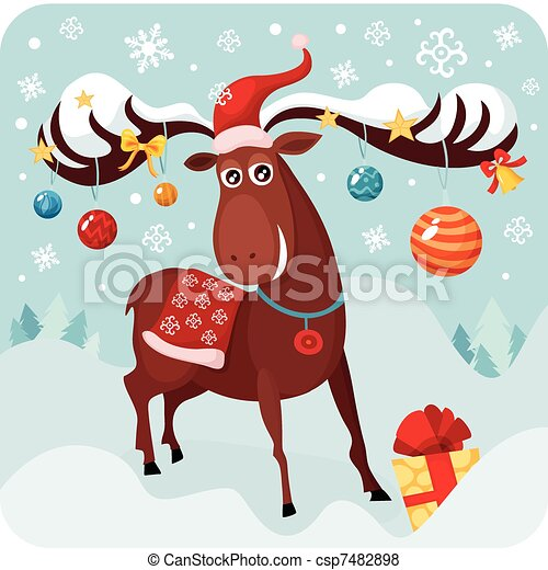 christmas deer - csp7482898