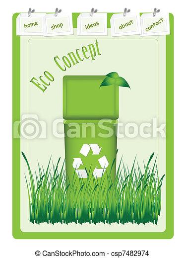 recycke bin - csp7482974