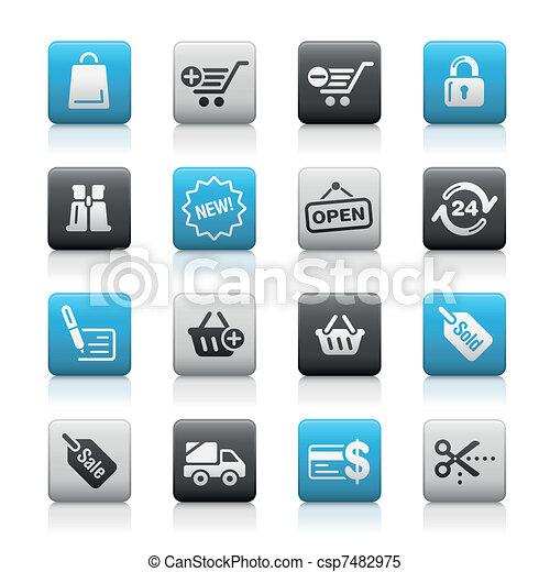 Shopping / Matte Buttons - csp7482975
