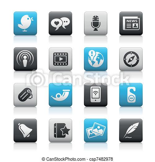 Social Media / Matte Buttons - csp7482978