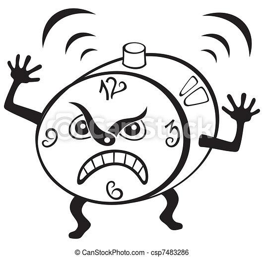 Clip art vecteur de reveil horloge illustration de - Dessin reveil ...