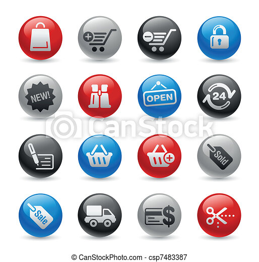 Shopping Icons / Gel Pro - csp7483387