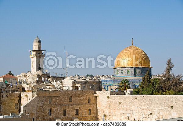 The Temple Mount in Jerusalem - csp7483689