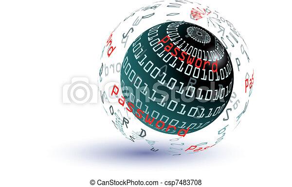 Password abstract globe - csp7483708