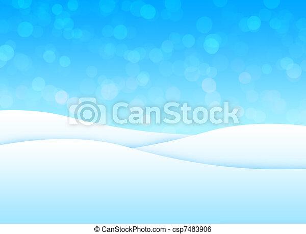 Snow landscape - csp7483906