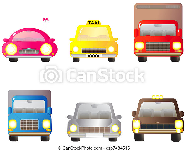 set car, jeep and lorry - csp7484515