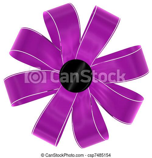 magenta bow - csp7485154