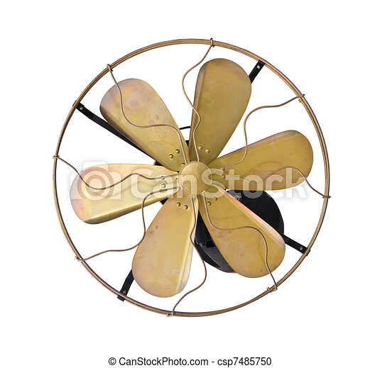 Stock Illustration of Brass vintage electric fan - Brass ...