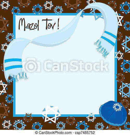 Bar Mitzvah Party Invitation - csp7485752