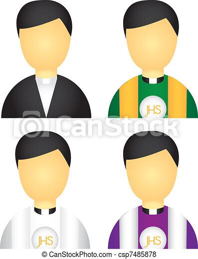 priest icons - csp7485878