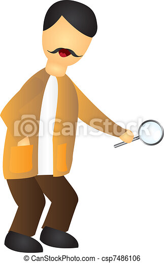 cartoon inspector - csp7486106