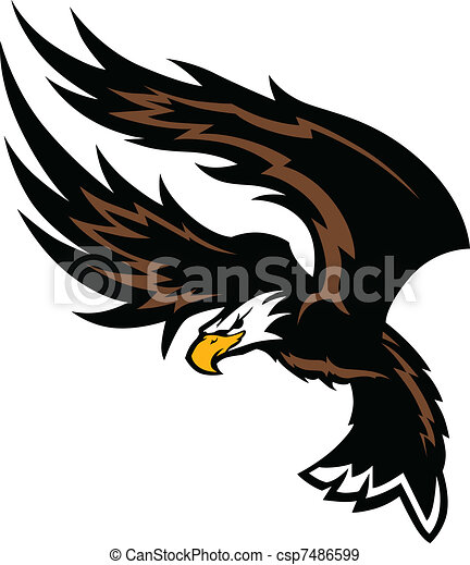 Flying Eagle Wings Mascot Design - csp7486599
